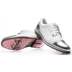 G/Fore Womens Cap Toe Gallivanter Golf Shoes 2019 Snow/Shark Skin