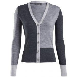 G/FORE Women's Color Block Cardigan Golf Sweater