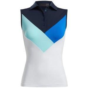 G/FORE Women's Multi V Sleeveless Golf Polo