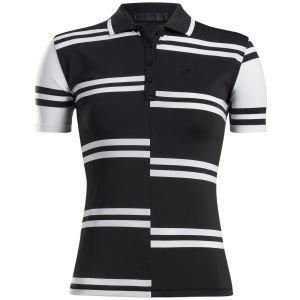 G/FORE Women's Offset Stripe Golf Polo
