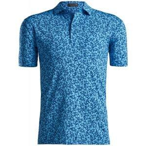 G/FORE Abstract Floral Golf Polo