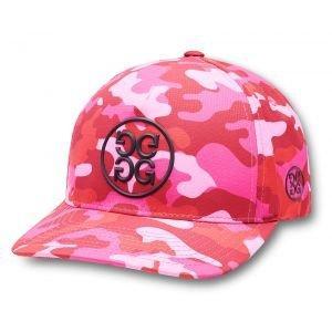 G/FORE Circle G's Camo Snapback Golf Hat Raspberry