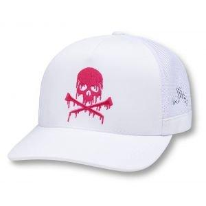 G/FORE Dripping Skull & T's Trucker Golf Hat Snow
