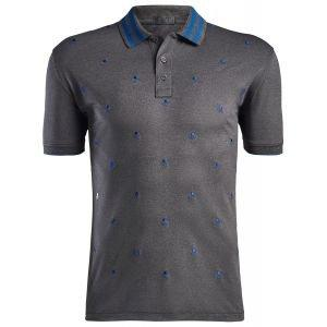G/FORE Skull & Ts Embroidered Golf Polo