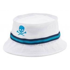 G/FORE Skull & T's Golf Bucket Hat Snow