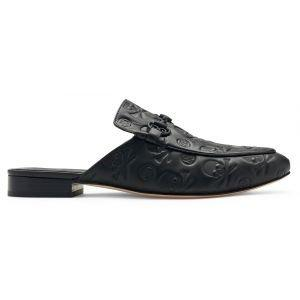G/FORE Skull & T's Mule Street Shoes Onyx