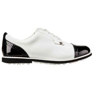 G/Fore Womens Cap Toe Gallivanter Golf Shoes Snow/Onyx 2020