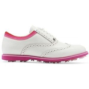 G/Fore Womens Limited Edition Grosgrain Gallivanter Golf Shoes Snow Bougainvillea