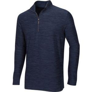 Greg Norman Heathered Comfort Stretch 1/4 Zip Golf Pullover - ON SALE - NAVY HEATHER - XXXL