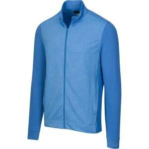 Greg Norman Long Sleeve Jacquard Full-Zip Stretch Golf Jacket