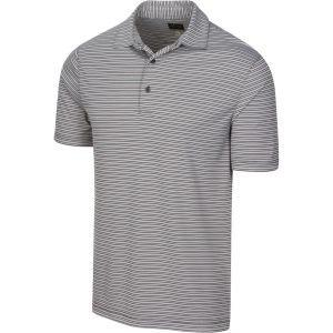 Greg Norman Protek Oxford Stripe Golf Polo Shirt On Sale
