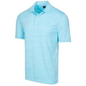 Greg Norman Shark Textured Jacquard Golf Polo