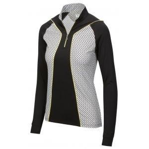 Greg Norman Ladies Solar XP Grace Long Sleeve 1/4 Zip Golf Polo