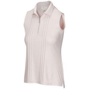 Greg Norman Women's ML75 Luster Sleeveless Zip Golf Polo