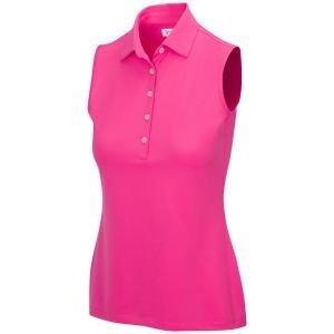 Greg Norman Women's Sleeveless Freedom Micro Pique Stretch Golf Polo