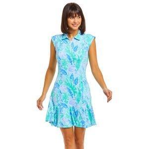 IBKUL Ladies Allison Print Sleeveless Polo Golf Dress 50748