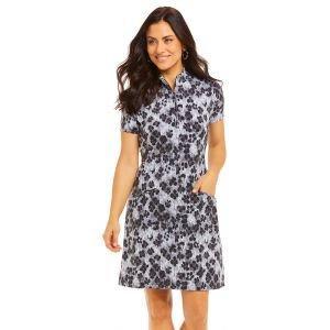 IBKUL Ladies Le Leopard Short Sleeve Mock Golf Dress 67752