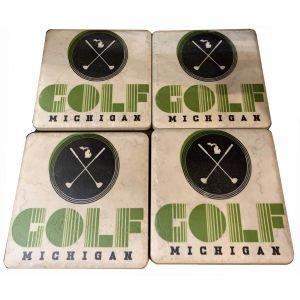 Iconic Detroit Tile Coasters 4 Piece Set
