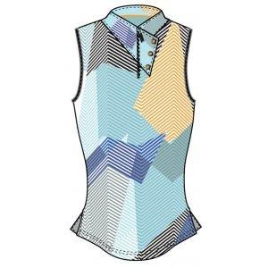 Jamie Sadock Womens Geo Collar Sleeveless Golf Top - 01236