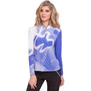 Jamie Sadock Womens Psychedelic Print Sunsense Long Sleeve Golf Top 01131