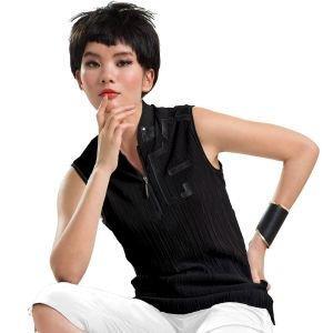 Jamie Sadock Ladies Sleeveless Zip Crunch Golf Polo 02221