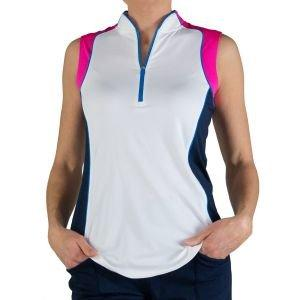JoFit Women's Colorblock Mock Golf Polo