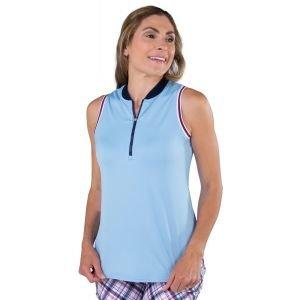 JoFit Ladies Cutaway Rib Mock Sleeveless Golf Polo