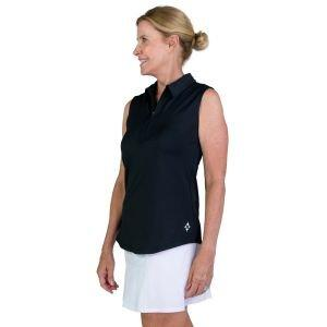 JoFit Ladies Jacquard Sleeveless Golf Polo