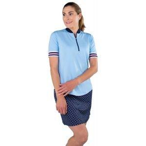 JoFIt Ladies Rib Collar Mock Golf Polo