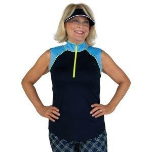 JoFit Women's Sleeveless Colorblock Tipsy Golf Top