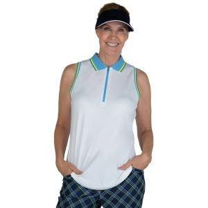 JoFit Women's Sleveeless Cutaway Rib Trim Golf Polo