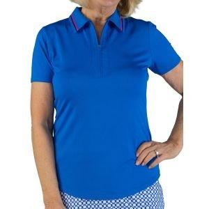 JoFit Women's Striped Collar Performance Golf Polo