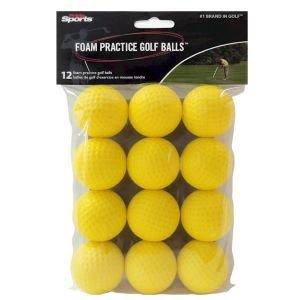 Player Supreme Foam Practice Golf Balls Yellow