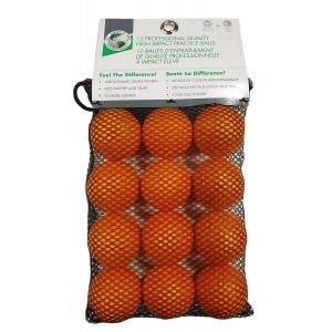 JP Lann High Impact Foam Practice Golf Balls 12 Pack - Orange