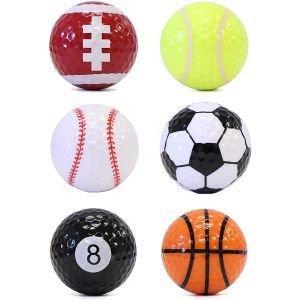 JP Lann Sport Themed Golf Balls 6 Pack