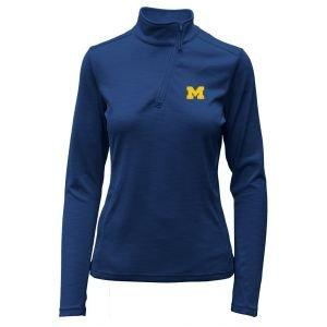 Levelwear Womens University Of Michigan Wave Golf Pullover