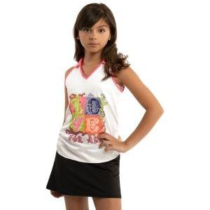 Lucky In Love Junior Girls Love For All Ruche Golf Tank Top