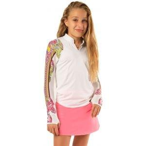 Lucky In Love Junior Girls Rockin' Long Sleeve Golf Polo