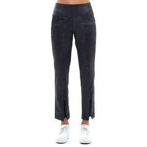 Lucky In Love Women's Black Grid Golf Pants