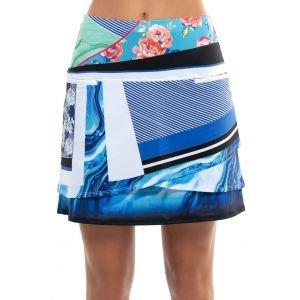 Love In Love Women's Blue Marble Golf Skort