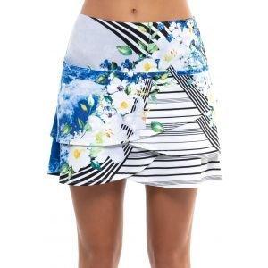 Lucky In Love Women's Floral Tide Golf Skort Short