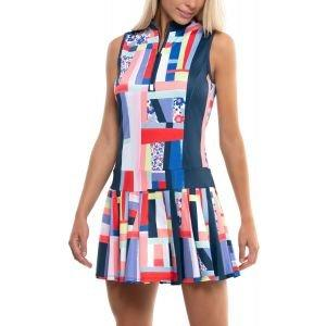 Lucky In Love Women's Sleeveless Pop Art Floral Golf Dress