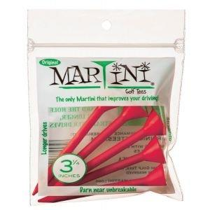 "3 1/4"" Martini Golf Tees 5 Pack Red"