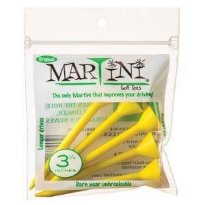 "3 1/4"" Martini Golf Tees 5 Pack Yellow"