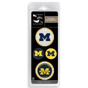 Michigan Wolverines Ball Marker Set 06bms
