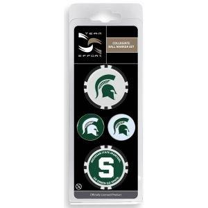 Team Effort Michigan State MSU Ball Marker Set