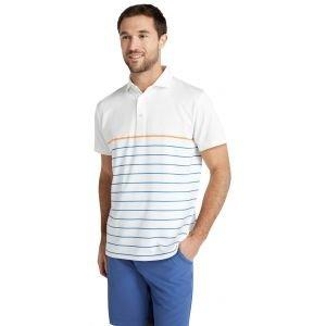 Mizzen+Main Phil Mickelson Golf Polo Orange Blue Stripe