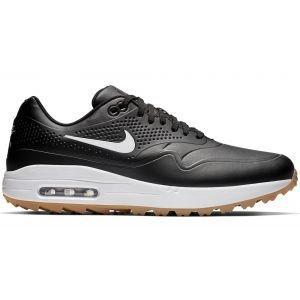 Nike Air Max 1 G Golf Shoes Black/White/Gum - Contrast Swoosh