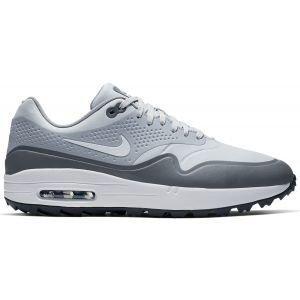 Nike Air Max 1 G Golf Shoes Platinum/White/Grey