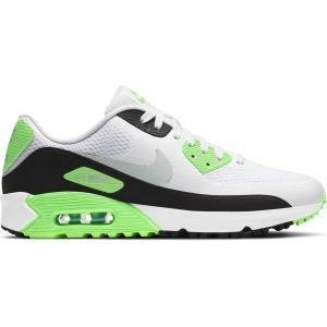 Nike Air Max 90 G Golf Shoes White/Black/Flash Lime/Neutral Gray